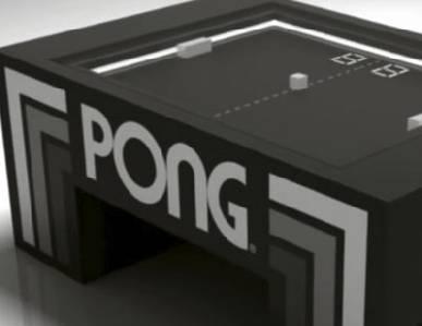 Máquina recreativa de 'Pong' a tamaño real |