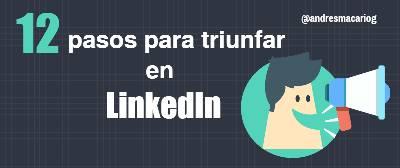 12 pasos para triunfar en LinkedIn #infografia - Andres Macario