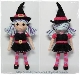 SanDryCreaciones: Brujita de Halloween