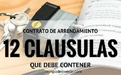 Contrato de Arrendamiento, 12 clausulas que debe contener - Tiempo de Invertir