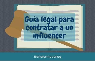 Guía legal para contratar a un influencer #infografía