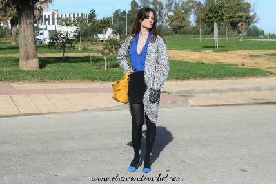 Shein Multicolour Tweed Coat Outfit - El Rincón de Rachel