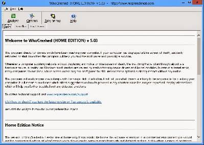 WhoCrashed Free Home Edition - Averigua que controladores causan fallos y reinicios en tu PC