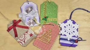 5 ideas de tarjetas de regalo navideñas de cartón. Reto Amistoso Nº84