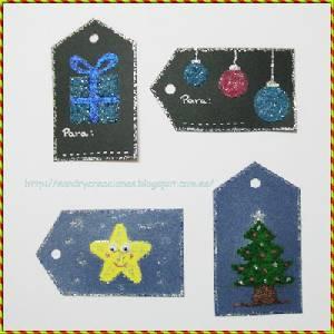 SanDryCreaciones: Tarjetas navideñas para los regalos