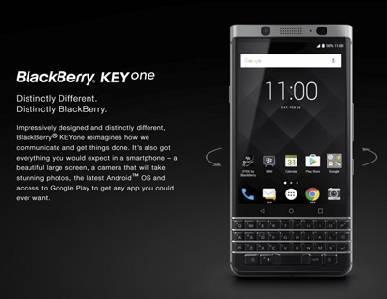 KEYone, lo nuevo de BlackBerry viene con teclado físico -