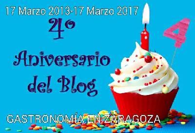 Gastronomía En Zaragoza: 4 Aniversario : 17 De Marzo De 2013 /17 De Marzo 2017