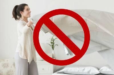 ¿Realmente hacer la cama es malo para la salud?