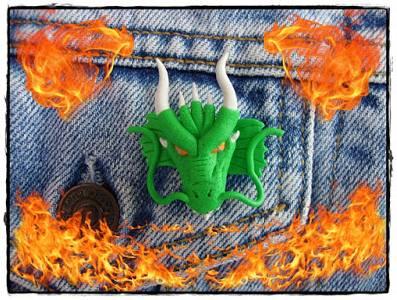 SanDryCreaciones: Pin cara de dragón