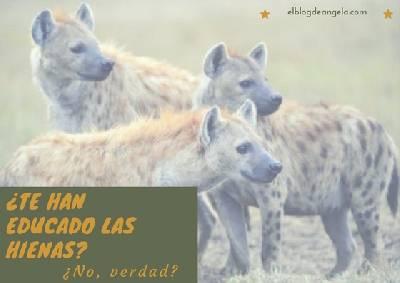 ¿Te educaron las hienas? ¿No, verdad? - El Blog de Ángela