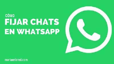 ¡Nuevo! Cómo fijar chats en Whatsapp ⋆ Maria en la red