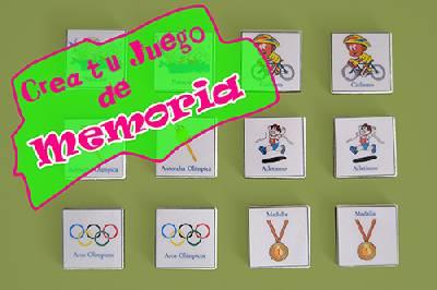 Crea tu propio juego de memoria olímpica, con materiales sencillos