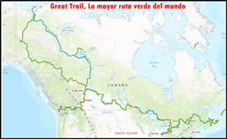 El mundo de la ecologia: Great Trail, La mayor ruta verde del mundo
