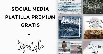 Te regalo esta plantilla premium gratis de social media para tu blog e instagram