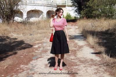 Retro Striped Dress Outfit - El Rincón de Rachel