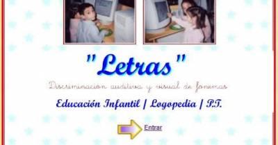 LETRAS, discriminación auditiva y visual de fonemas