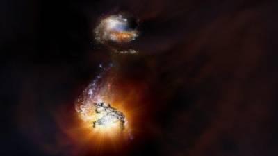 Dos galaxias titánicas chocan a 13. 000 millones de años luz – HISTORICON