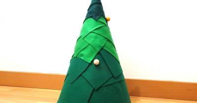 Árbol de Navidad de fieltro para nuestros peques - Pues eso. . .