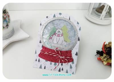 Tarjeta Postal Bola de Nieve