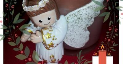 Ysnelda Solano Hecho a Mano : Vela decorada con Angelito en Porcelana Fría