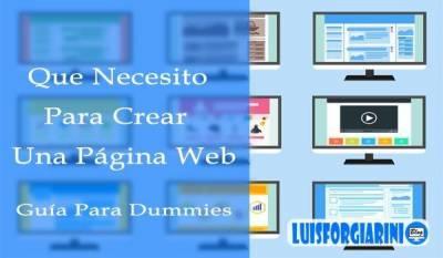 Que necesito para crear una página web?? - Guía para dummies