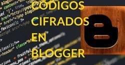 Blogger con códigos cifrados, encriptación informática