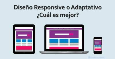 Diseño Responsive o Adaptativo ¿Cuál es mejor? [Infografía]