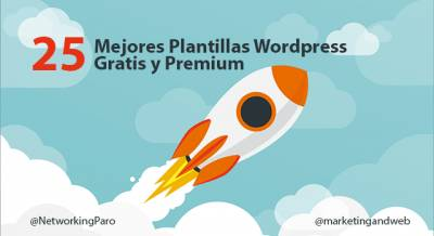 25 Mejores Plantillas Wordpress Gratis y Premium en 2018