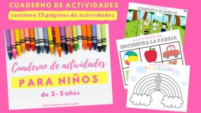 Cuaderno de actividades para niños de 2 a 5 años | Experiencias de la Vida