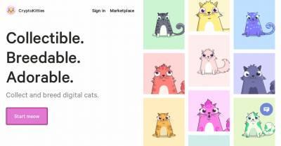 CryptoKitties - Juego Ethereum de criptogatitos para comprarlos, venderlos, criarlos y ganar dinero