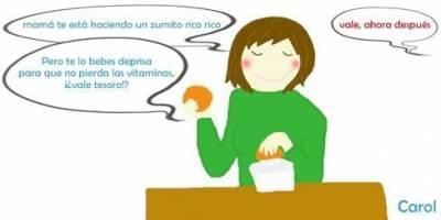 Cúando pierde el Zumo las Vitaminas, mamás del mundo ¡se acabó el estrés!  | mamá ríe