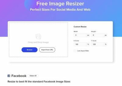 Free Image Resizer: redimensiona imágenes para Redes Sociales y la Web