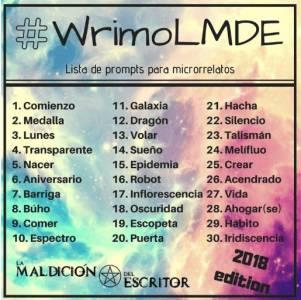 Participo en el #WrimoLMDE2018