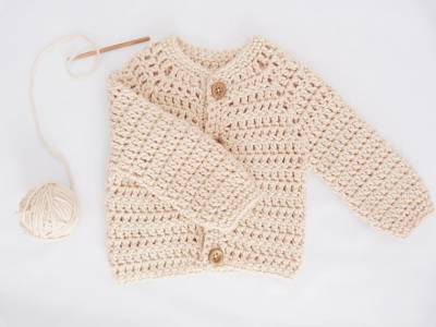 Cardigan Tejido A Crochet Super Fácil