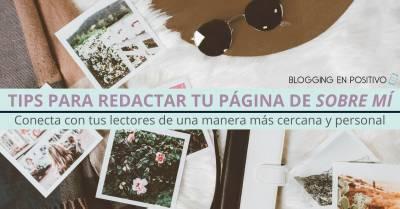 ¿Todavía no tienes una página de Sobre Mí en tu blog? 5 tips que te ayudarán a crearla