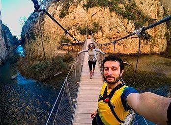 Senderismo en los puentes colgantes de Chulilla, Valencia