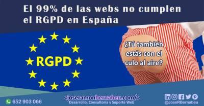 El 99% de las webs no cumplen el RGPD en España