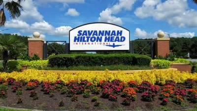 Las Tumbas del aeropuerto internacional de Savannah.