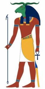 El dios Jnum, creador de la humanidad