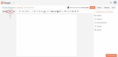 Personalizar cuadros de texto en Blogger
