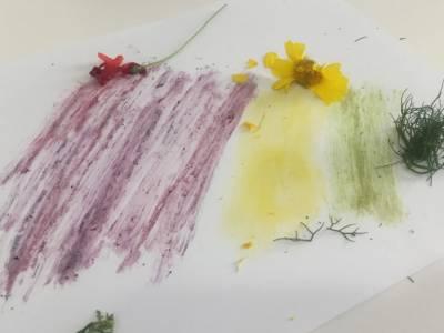 Pintar con Elementos Naturales - Mamá y 1000 cosas más