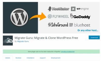 Cómo migrar WordPress de una manera fácil – Migrate Guru