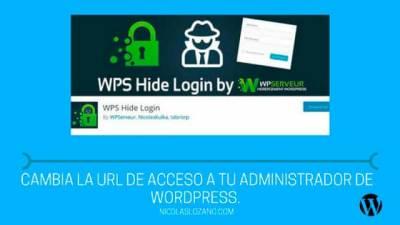 Cambiar la url de Administrador de WordPress - nicolaslozano. com