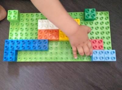 Nuestro primer juego de mesa DIY con bloques de Lego Duplo