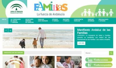 Web para las familias en Andalucía