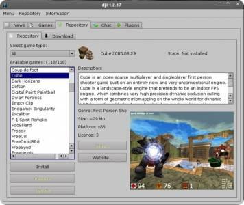 DJL gestor de paquetes para juegos al estilo de Synaptic o Yum.