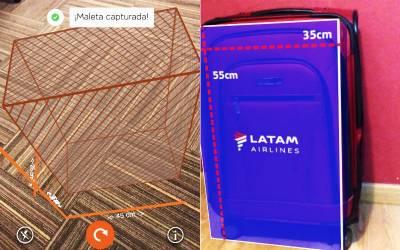 Cómo medir tu equipaje para viajar en avión con realidad aumentada