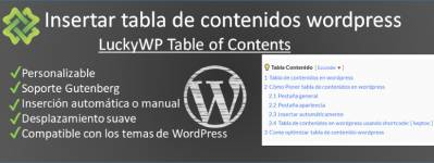 Como【 insertar tabla de contenidos en wordpress 】2019-2020 [lwptoc]