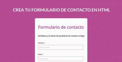 Crea Un Formulario De Contacto profesional En HTML de forma sencilla