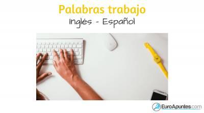 Inglés gratis palabras trabajo
